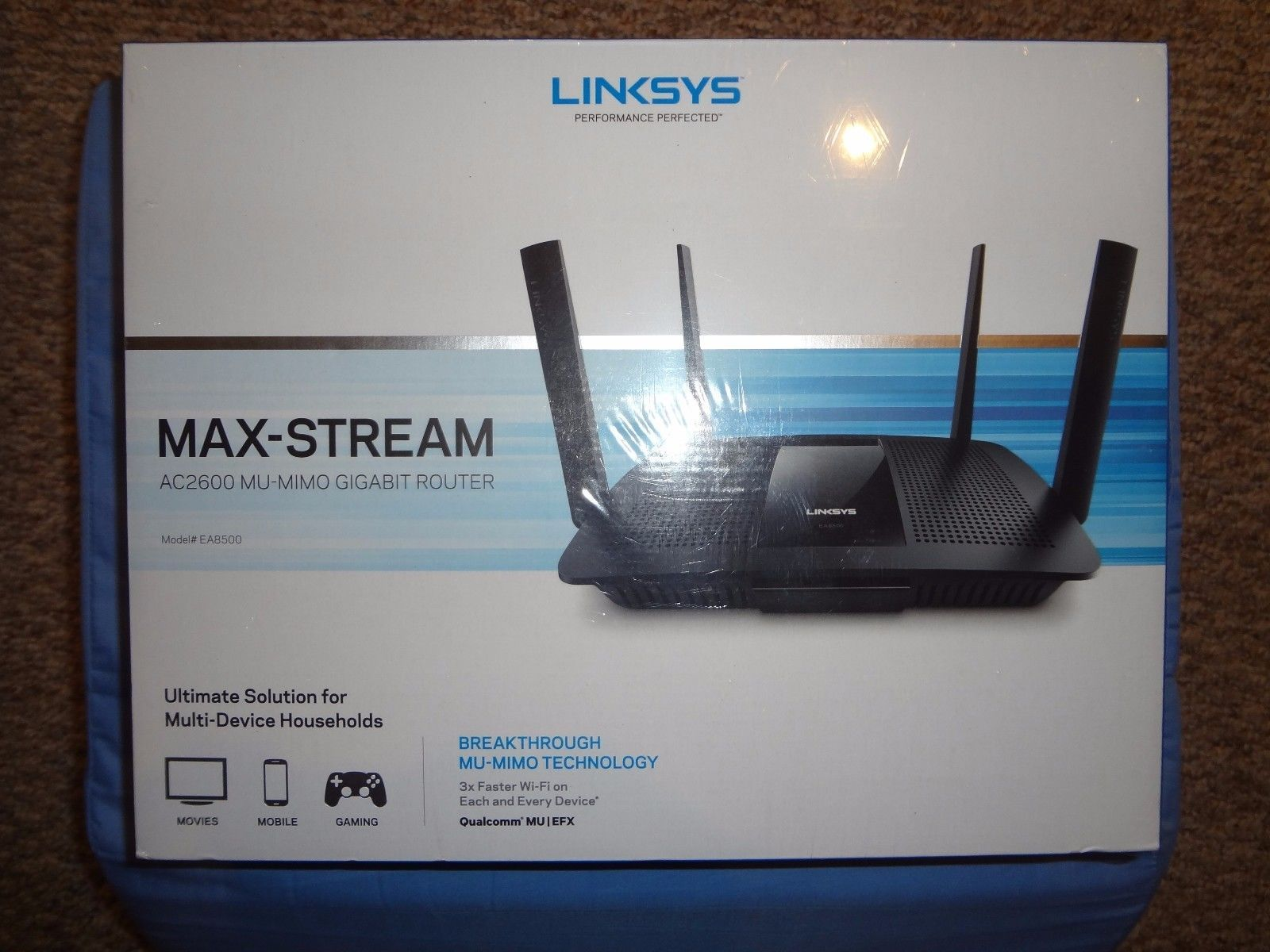 Linksys ea8500 max stream ac2600 mu mimo gigabit router 3x faster linksys ea8500 max stream ac2600 mu mimo gigabit router 3x faster brand new greentooth Gallery