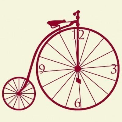 Style and Apply Bicycle Wall Clock Wall Decal Wall