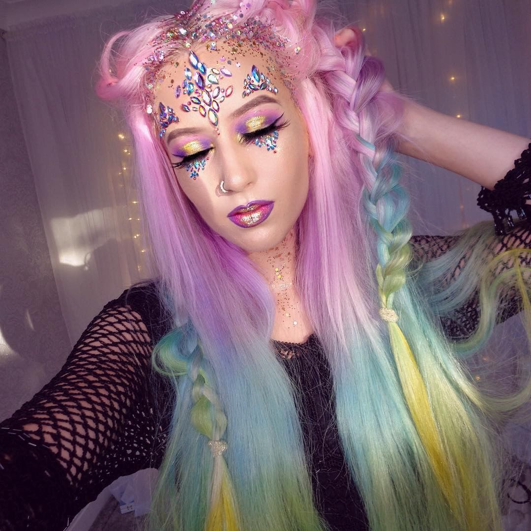 Pink Blue Lace Wig Colored Wigs Pink Wig Full Lace Wig
