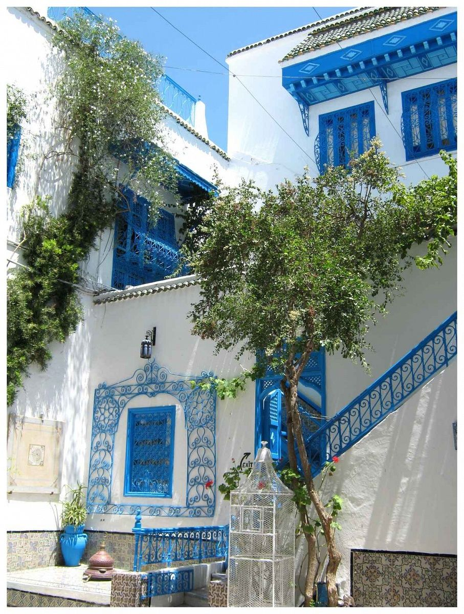 Side bu said tunisia sidi bou said is still under for Architecture maison tunisie