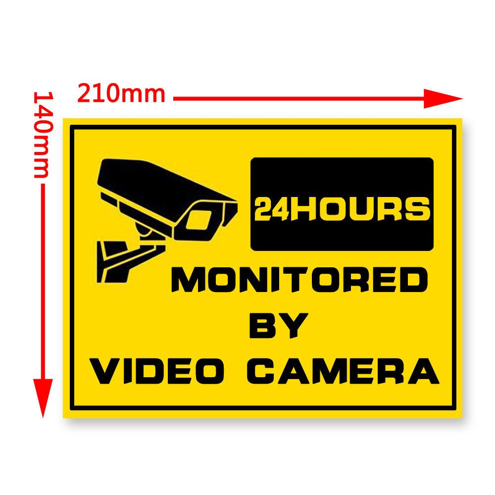 Pcs HOME Securityhr Surveillance System Warning Security - Window stickers for home security
