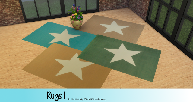 Sims 4 CC's - The Best: Rugs by ChiLLiSims