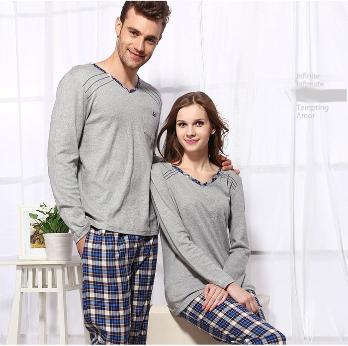 Knitted cotton spring couple pajamas pajama-sale.org top-knitted-cotton 4dcd5f8b2