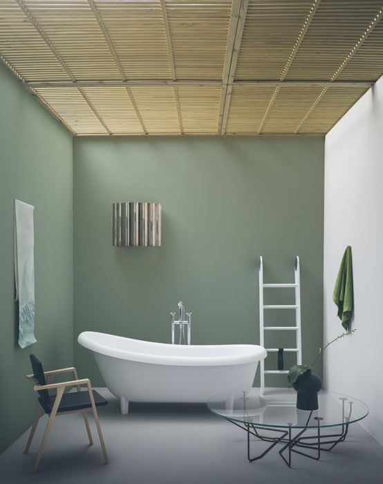 Decorare il soffitto Pareti camera da letto verde, Bagno