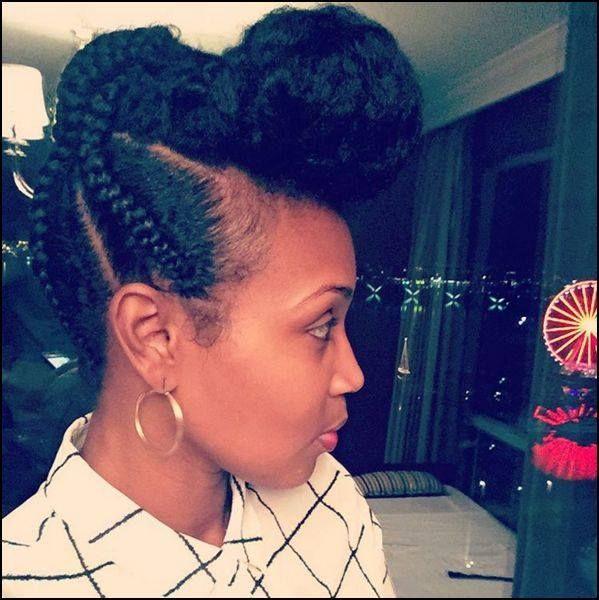 Braided Pompadour Updo IG:@tiffhaynes10 #naturalhairmag   Natural hair styles, Hair styles ...
