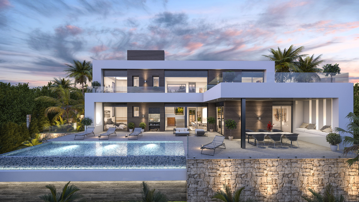 Modernes haus-exterieur-design villa concerto photo   qablan  pinterest  villas house and bungalow