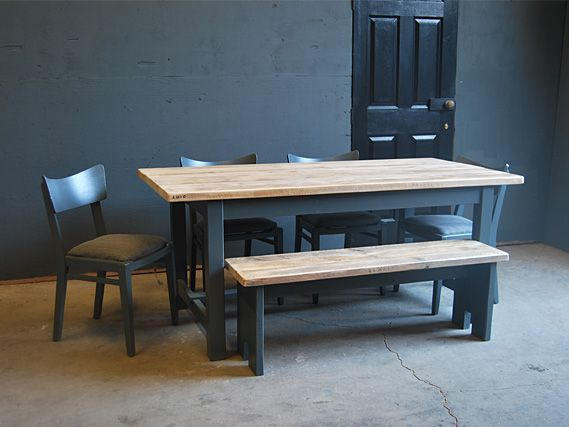 Square Leg Refectory Table   The Vintage Furniture Company