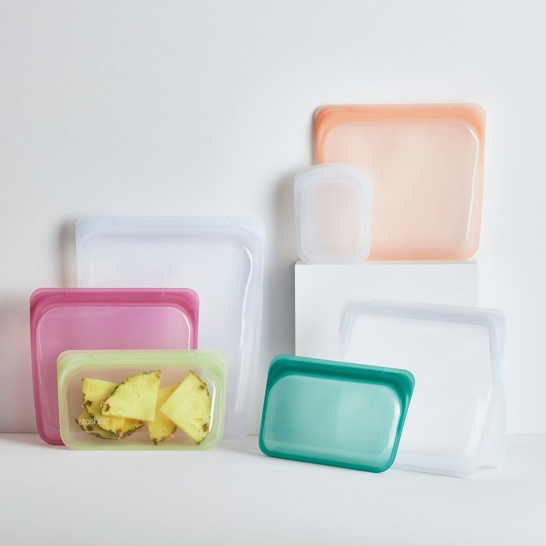 Reusable Silicone Pocket Bag In 2020 Stasher Reusable Sandwich Bags
