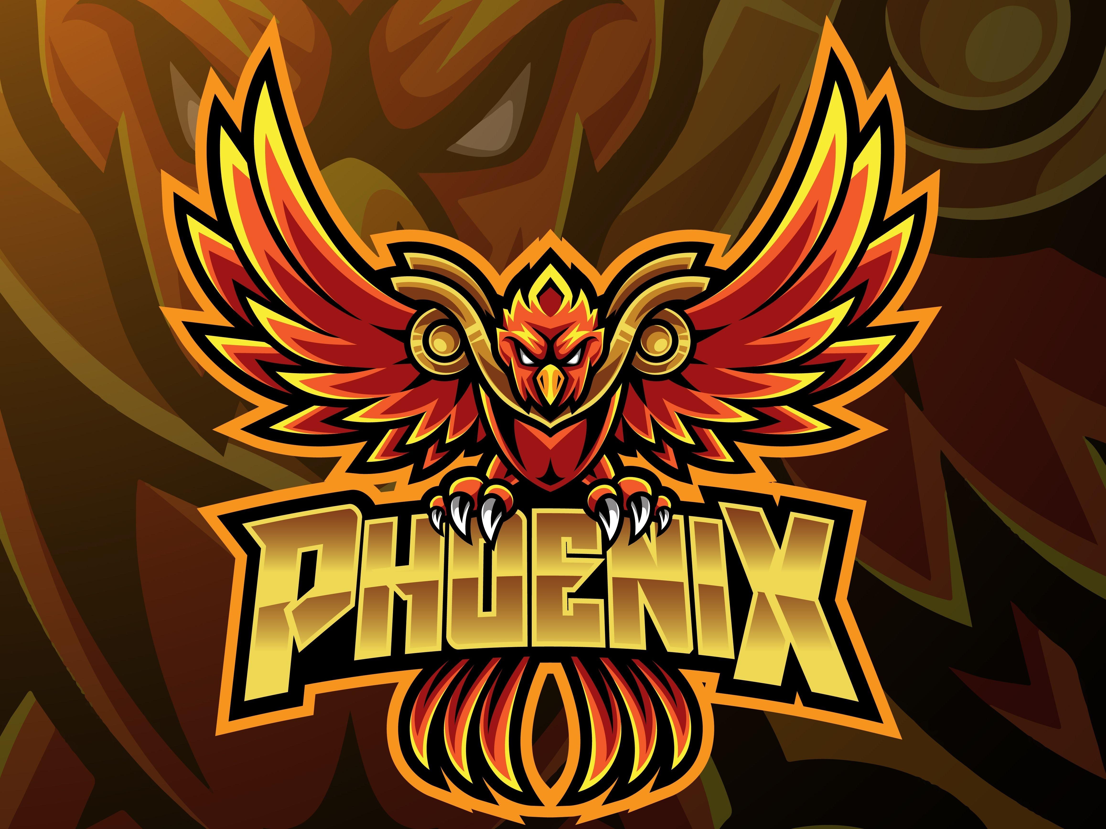 Phoenix sport mascot logo design Gambar naga, Logo keren