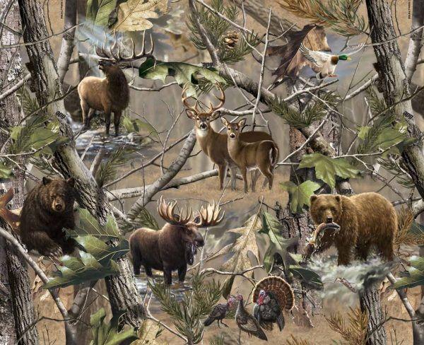 Realtree Fleece Prints 1417 Hidden Animals Cakes