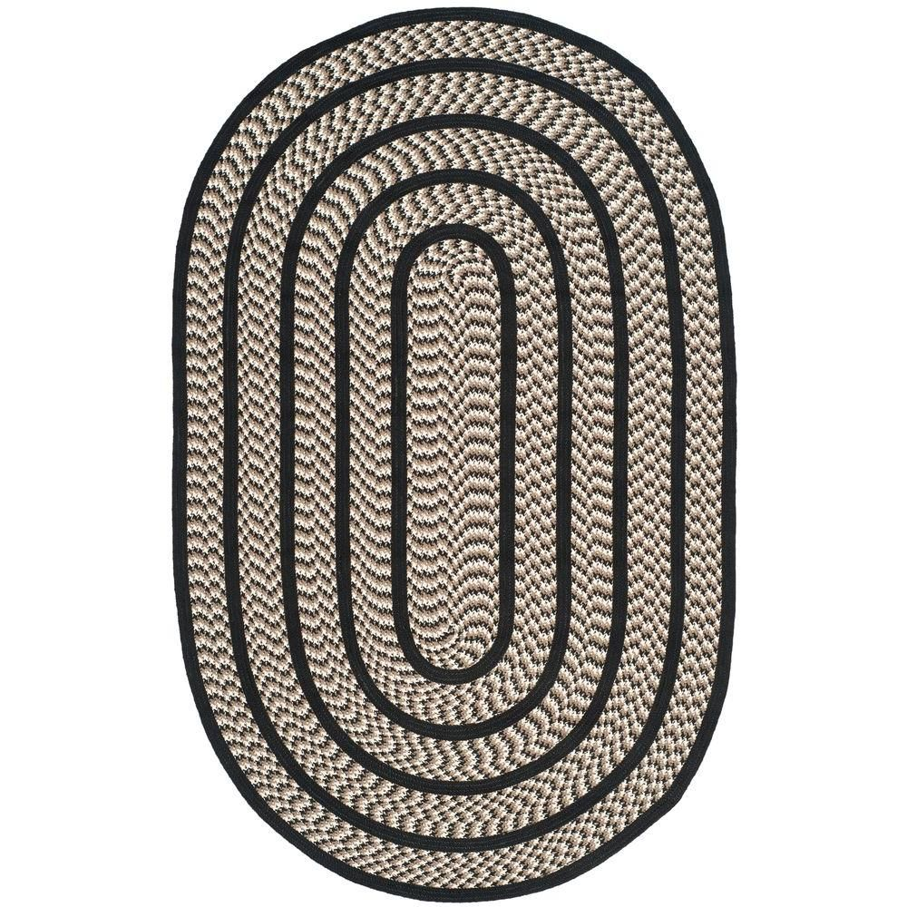 Safavieh Braided Ivory Black 2 Ft X 8 Ft Oval Area Rug Products