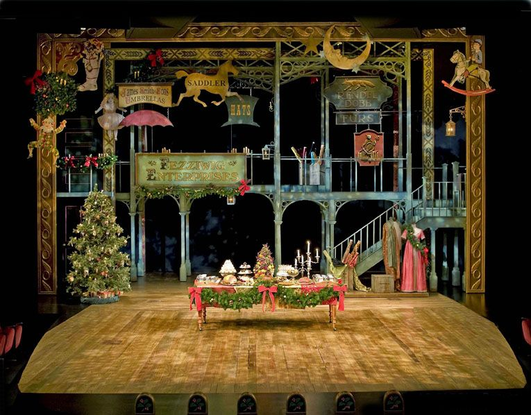 A Christmas Carol Denver 2019 Christmas Carol. Denver Center Theatre Company. Set design by