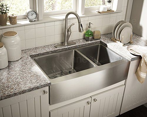 Top Farmhouse Sinks For Kitchens How To Choose An Apron Sink 2020 The Flooring Girl Apron Sink Kitchen Apron Front Kitchen Sink Farmhouse Sink Kitchen