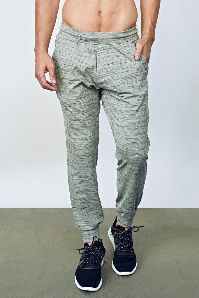 edb1fc757f EYSOM Men's Heather Grey Refined Jogger Pant   Style   Athleisure in ...