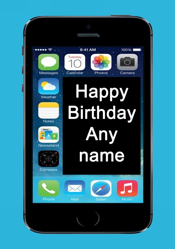 Funny Joke Iphone Mobile Phone Personalised Birthday Card