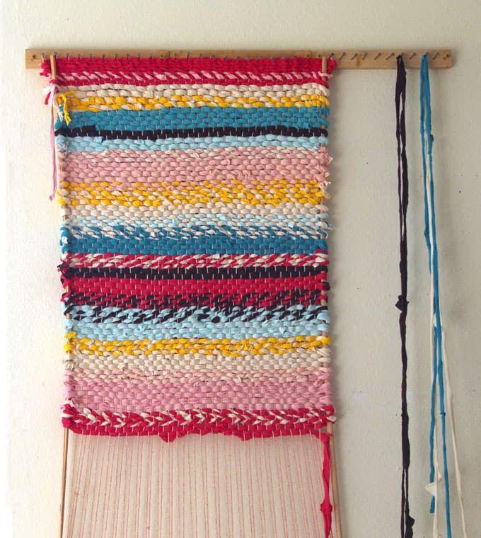 Weave A Boho T Shirt Rag Rug With Easy Diy Loom Room 416