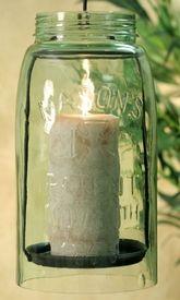 Unique Primitive Rustic Country Mason Patent Fruit Jar Lid Coasters Lot Set of 4