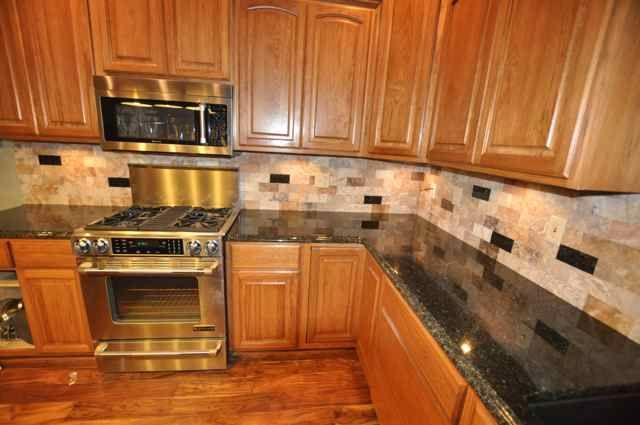 Backsplash Ideas For Black Granite Countertops Kitchen Tiles Kitchens With Oak Cabinets Paint Cabinet