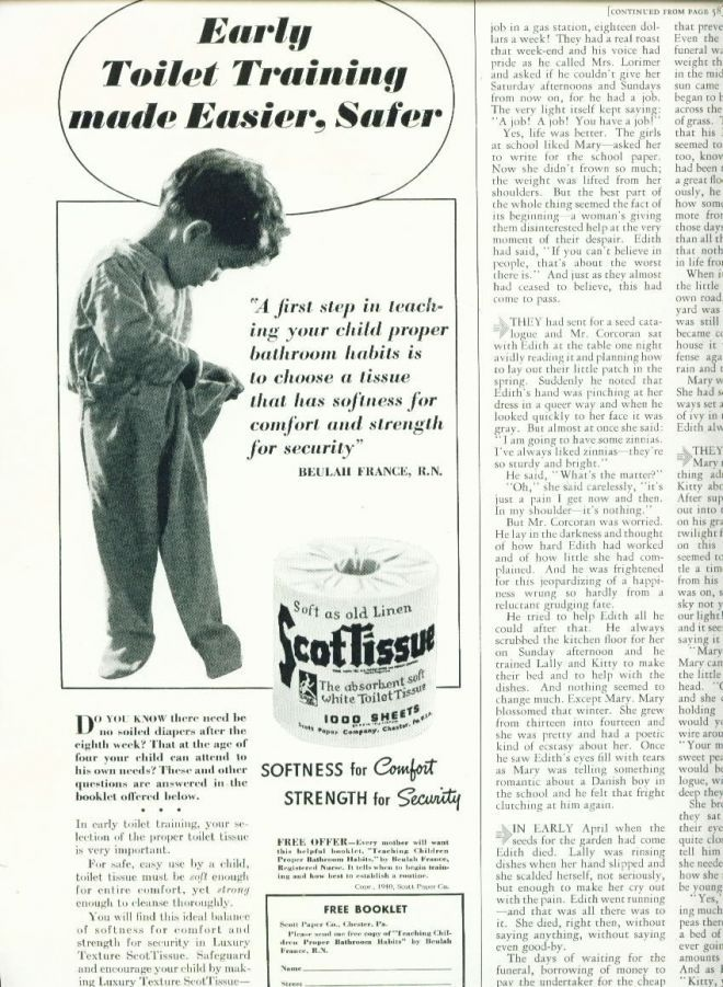 vintage toilet paper ads of the 1940s | Famous 40\'s, vintage ...