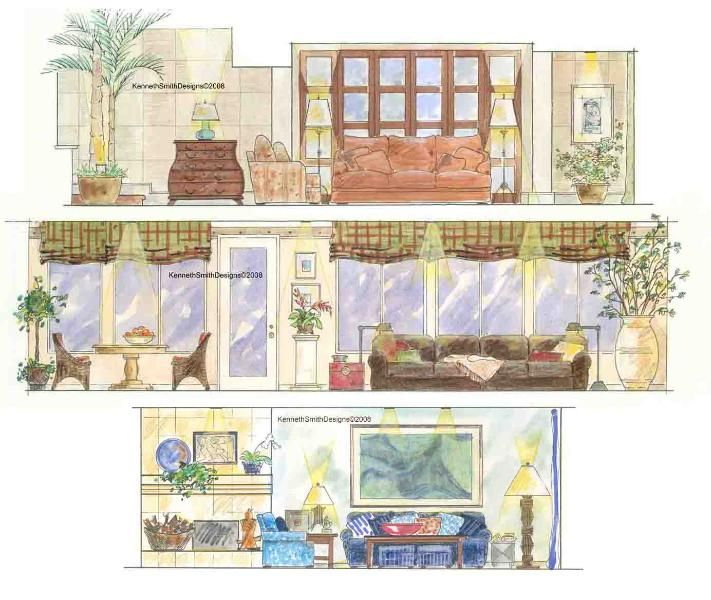 image result for painted elevation interior | sketches | pinterest