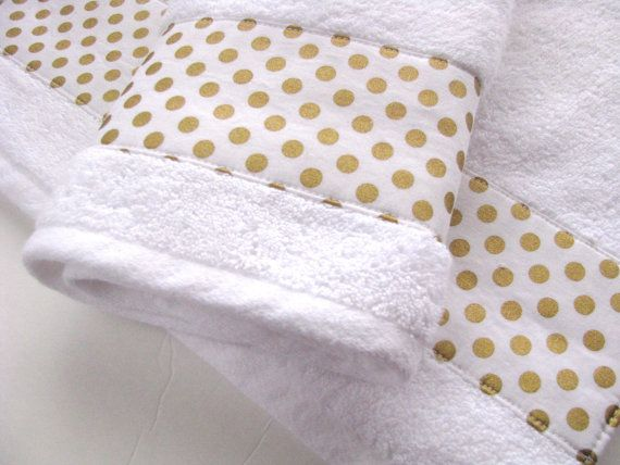 Gold And White Towels Hand Towels Bath Towels Custom By Augustave White Towels Custom Towel Bath Towels