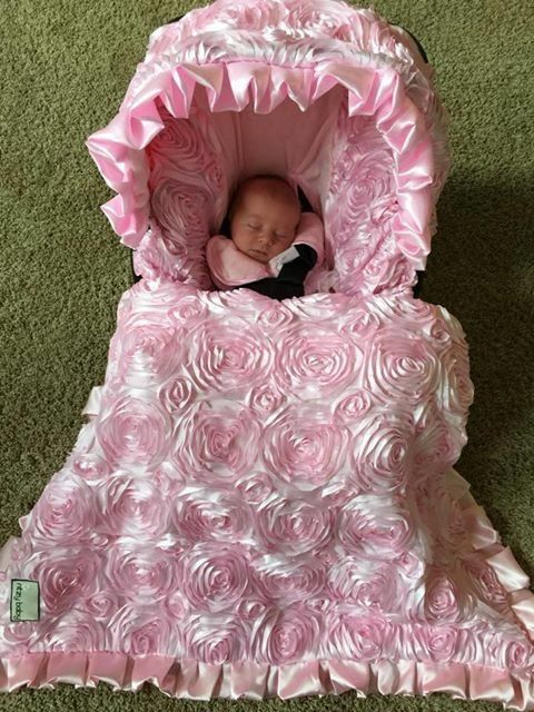 Baby Car Seat Covers, Fancy Infant Car Seat Covers, Pink Infant Car