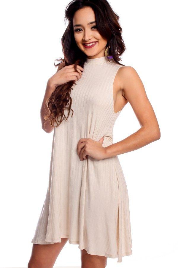 Taupe Knee Length Dresses