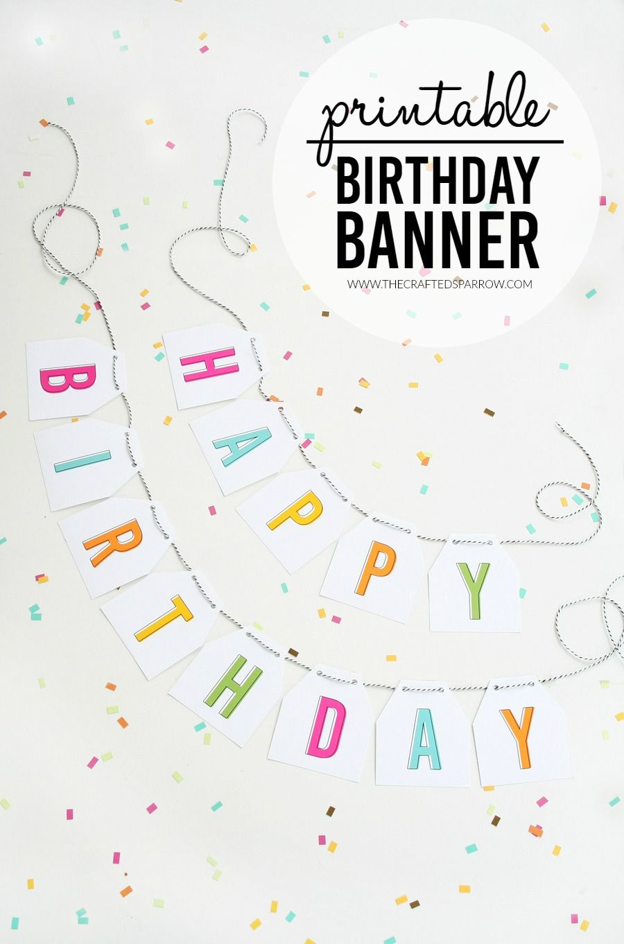 Free printable birthday banner birthday banner free