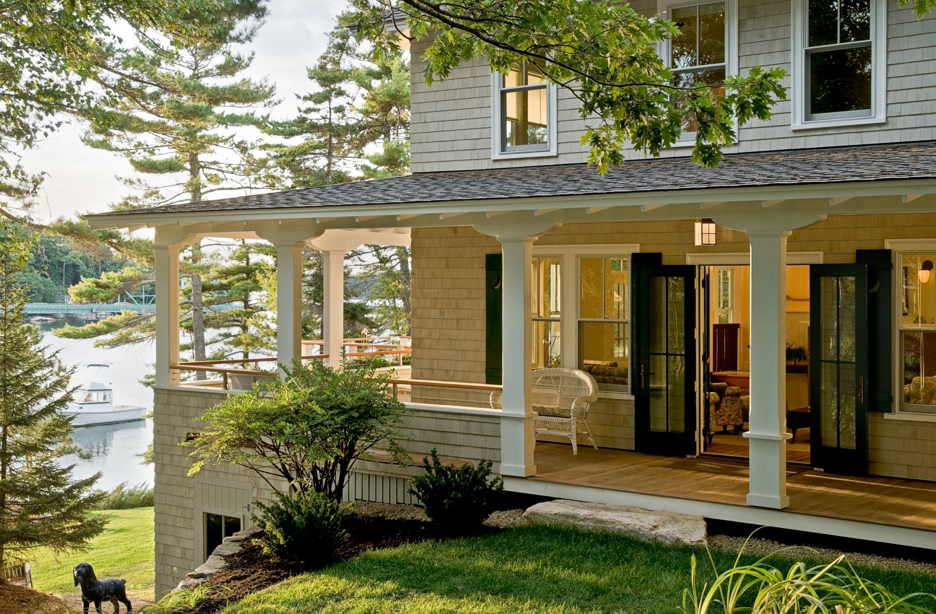 One Of My Favorites Whitten Architects New England Home And Maine Cottage Design Architects House Exterior Vacation Home Lake House