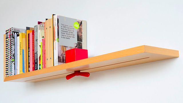 Clamp Shelf Tightens So Your Books Never Fall Again. Built InsBookshelf  IdeasWood ...