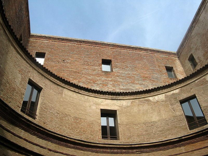 View from the courtyard of the House of Andrea Mantegna, one of the greatest artists of the Renaissance, in Mantua (Mantova). The artist lived here until he passed away in the sixteenth century.