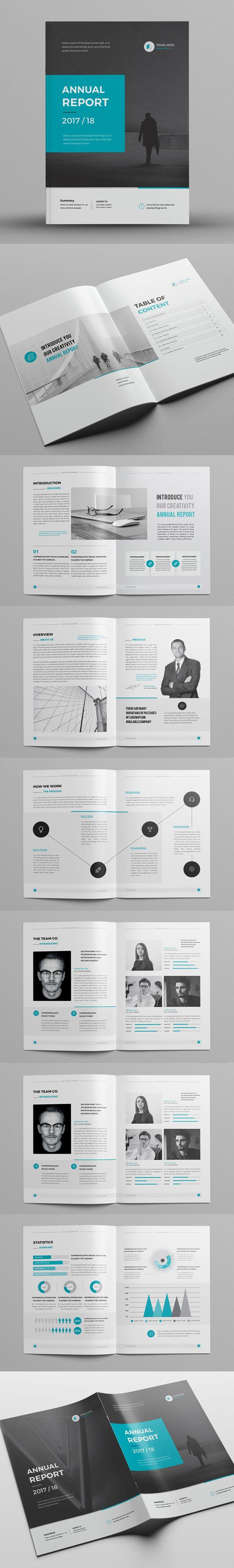 This InDesign Brochure Annual Report | megazine | Pinterest | Arte ...