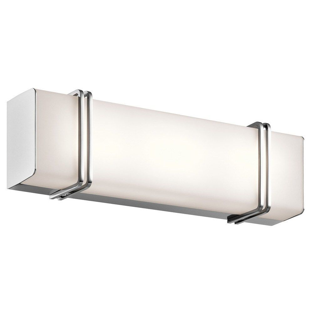 Photo of Kichler Lighting Impello Collection 18-inch Chrome LED Linear Bath / Vanity Light, Gray