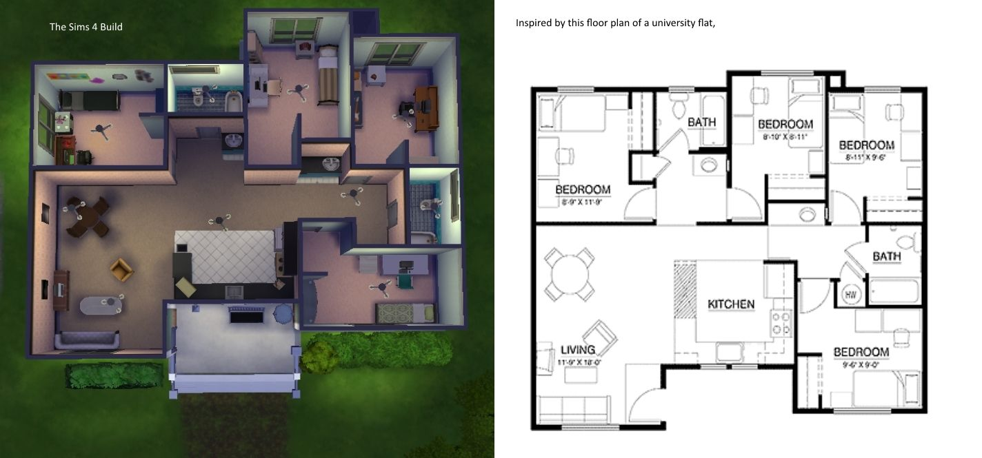 image result for sims 3 house blueprints 4 bedrooms - Sims House Floor Plans
