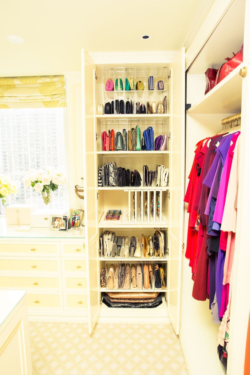Gayle King Closet built ins, Purse organization, Closet