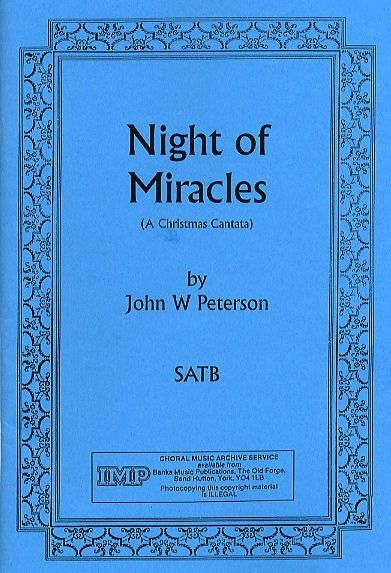 peterson night of miracles christmas cantata sheet music presto classical - Christmas Cantatas For Small Choirs