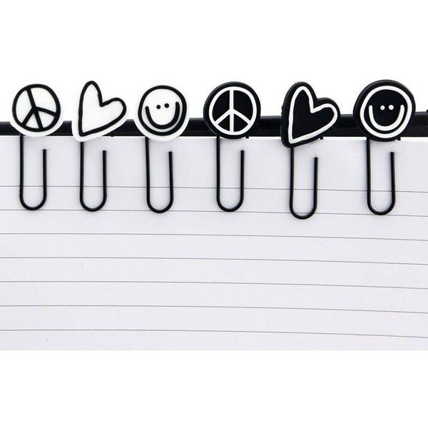 Peace Love World I Am Paper Clips  Inr  E D A Liked On Polyvore Featuring