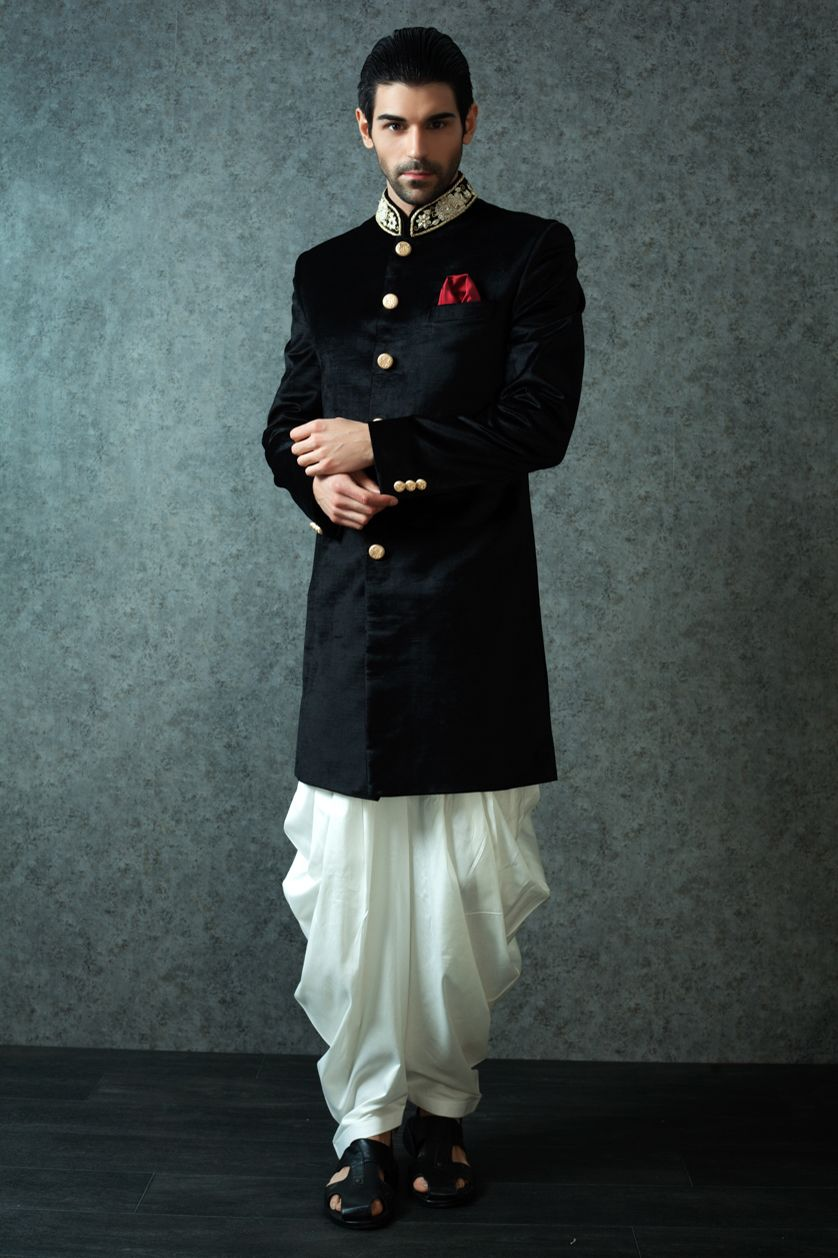 Indo western | Westerns, Indian groom wear and Sherwani