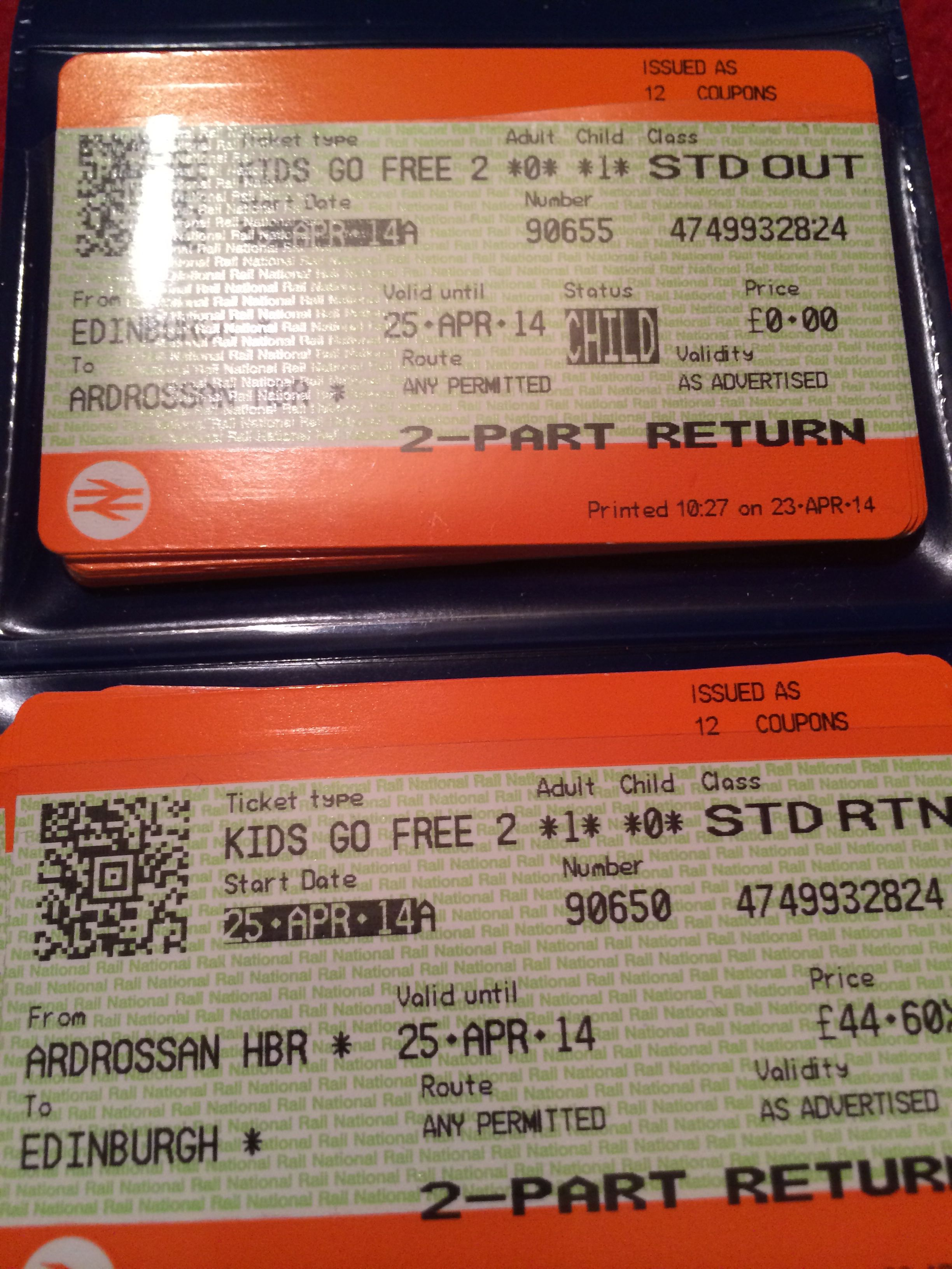 Train tickets are here for out Arran trip this wkend