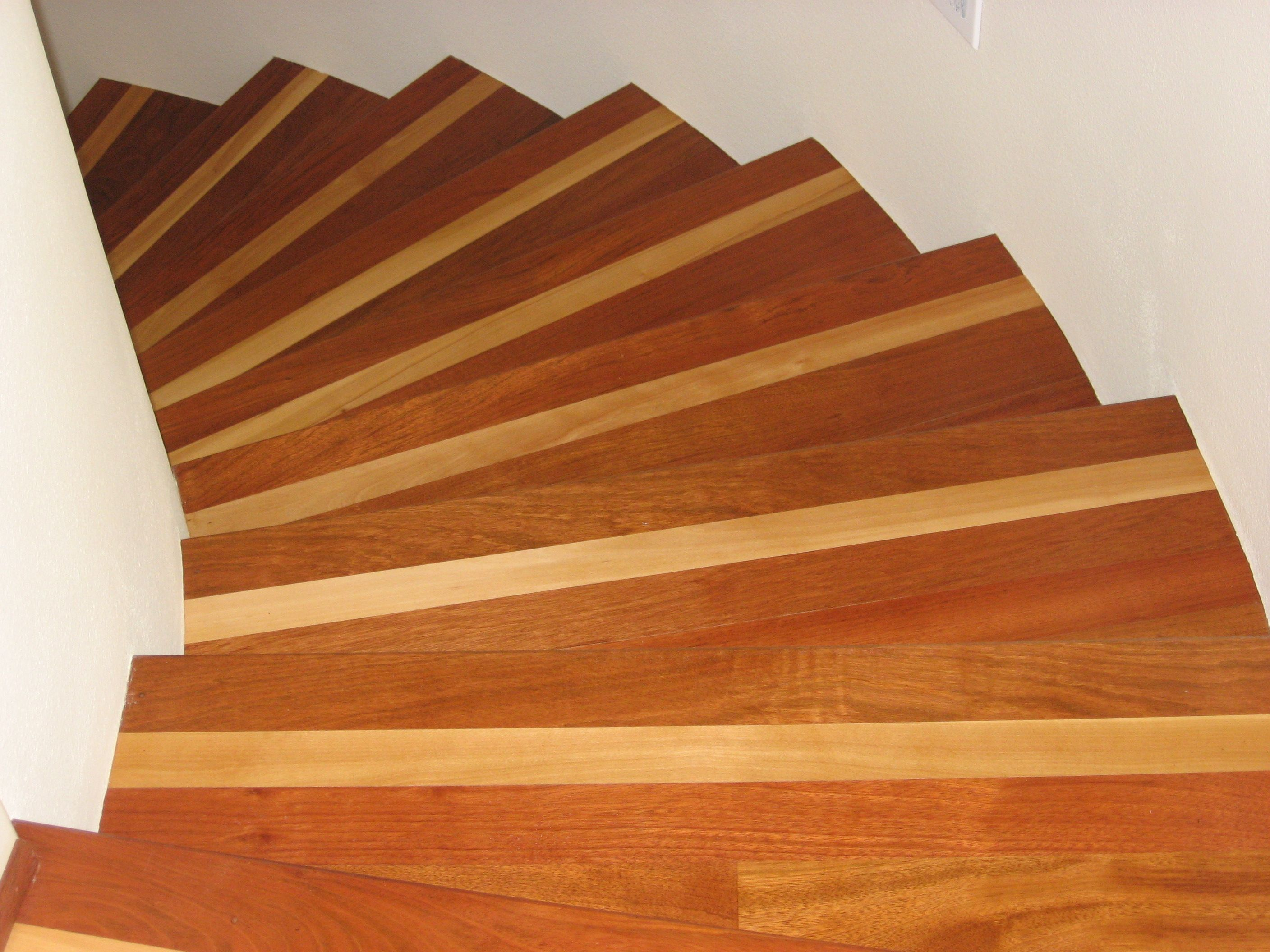 Best Brazilian Cherry Treads With Birch Stripe Hardwood 400 x 300