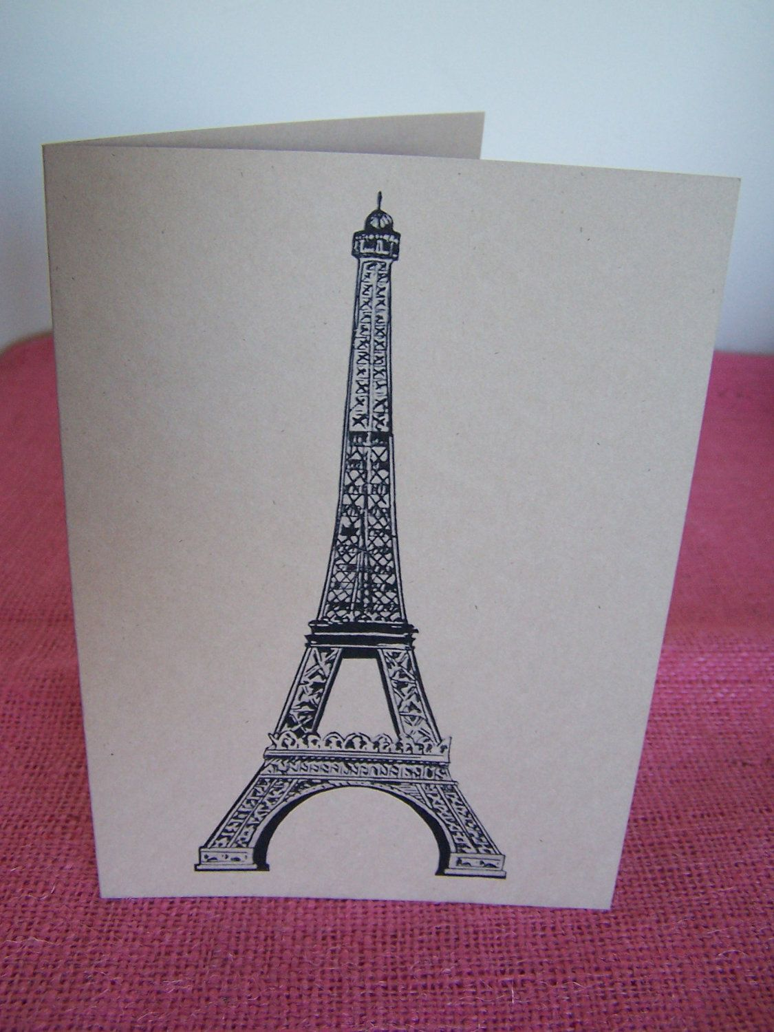 Eiffel Tower France French Set Of Any 3 Greeting Note Cards