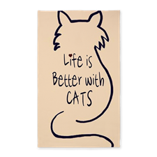 Life is Better with Cats Area Rug