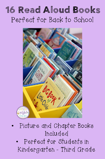 16 Read Aloud Books Perfect for Back to School Finding the perfect story to read aloud to your students at the beginning of the school year can be difficult. This blog post shares 16 books (both picture and chapter) to encourage students to become interested in reading. The recommendations also help teachers use trade literature to teach comprehension skills like sequencing and problem/solution as well as social/emotional skills. {Kindergarten, First, Second, and Third Graders}