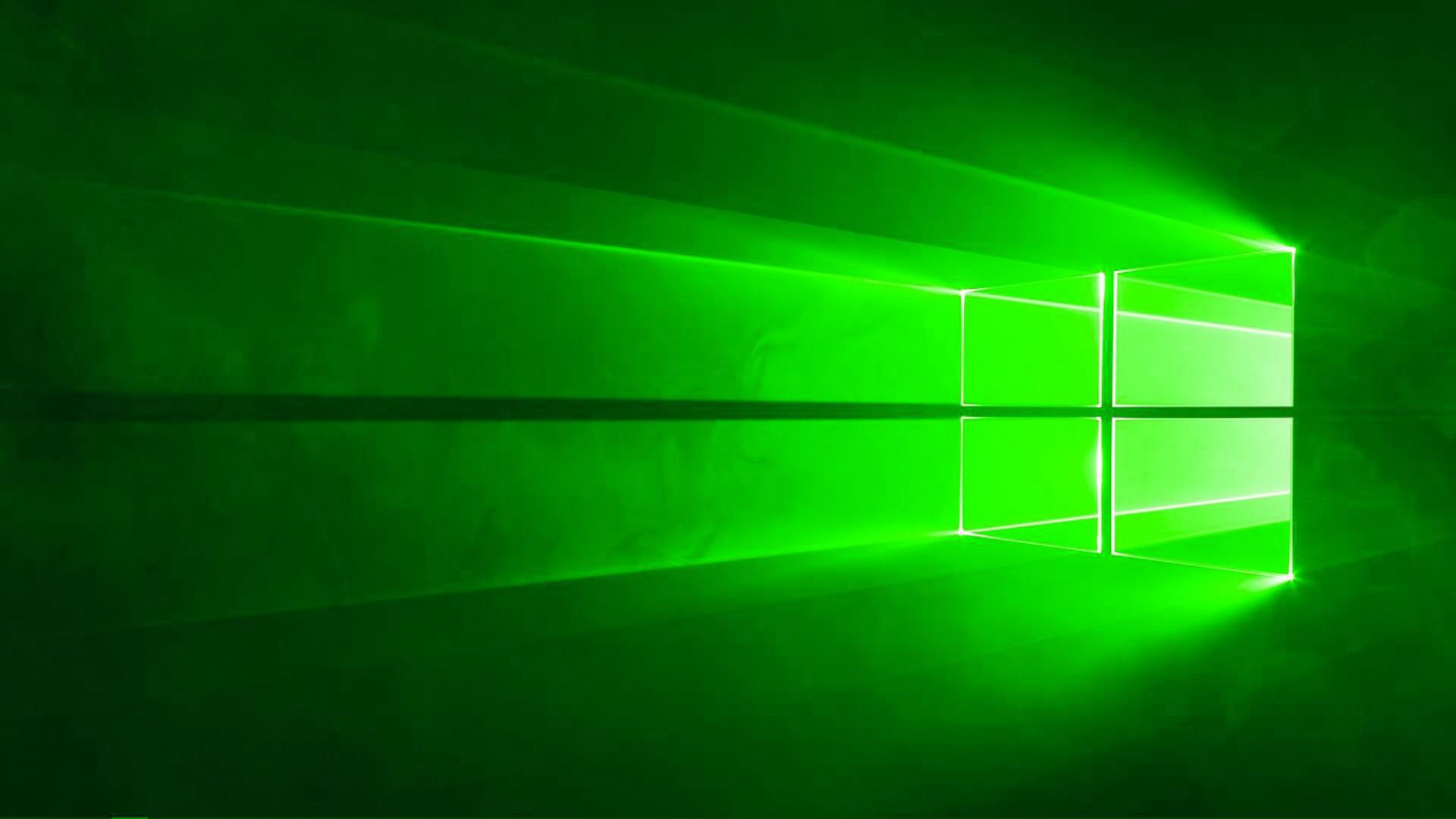 Windows 10 Green Wallpaper 1920x1080 Green Wallpaper Green Windows Windows Wallpaper