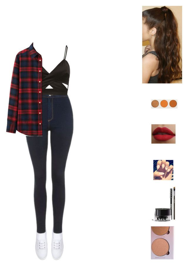 """Untitled #662"" by unicorn-923 ❤ liked on Polyvore featuring H&M, Topshop, Uniqlo and Anastasia Beverly Hills"