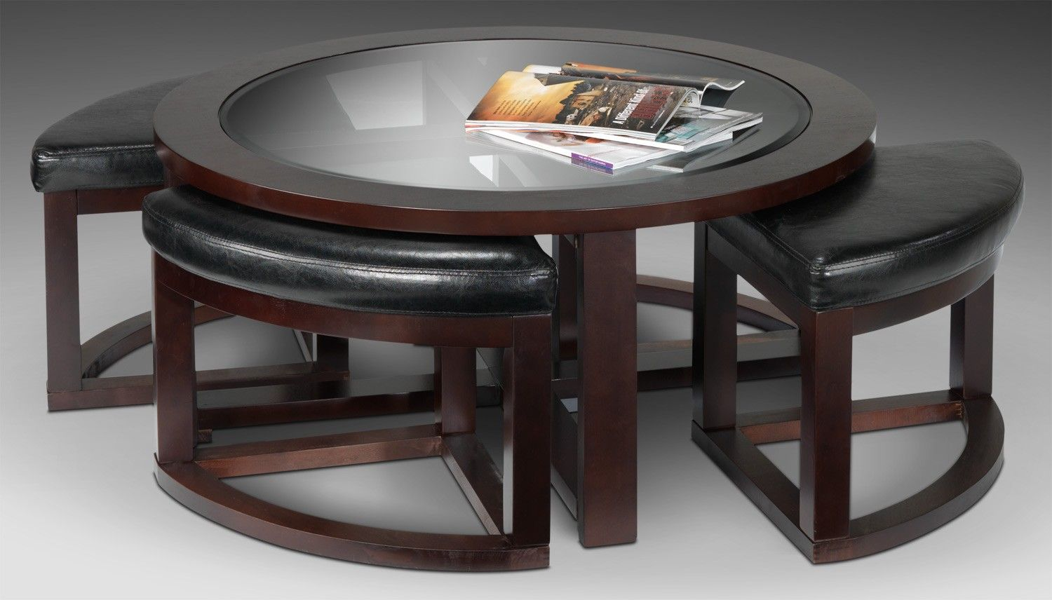 Emma Occasional Tables Cocktail Table W 4 Ottomans Leon S 350