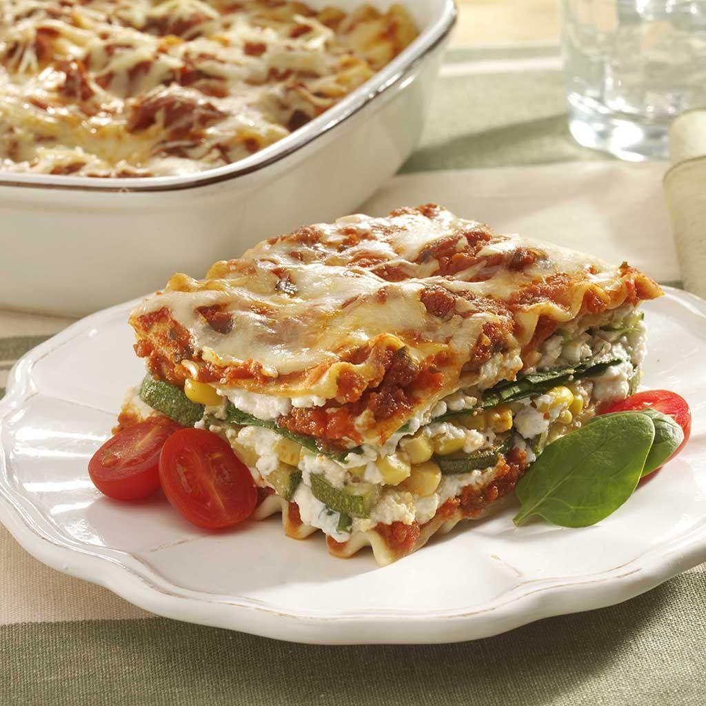 Comfort foodeasy cheesy vegetable lasagna recipe