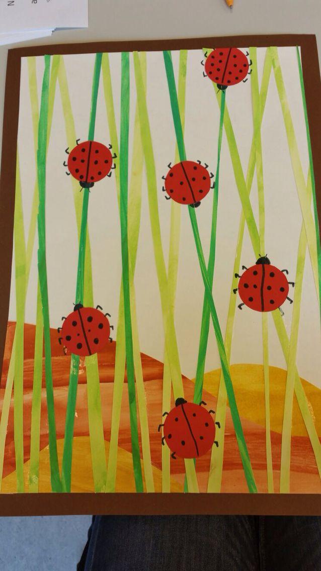 fr hling wiese marienk fer malfarben kunst pinterest marienk fer fr hling und kunst. Black Bedroom Furniture Sets. Home Design Ideas