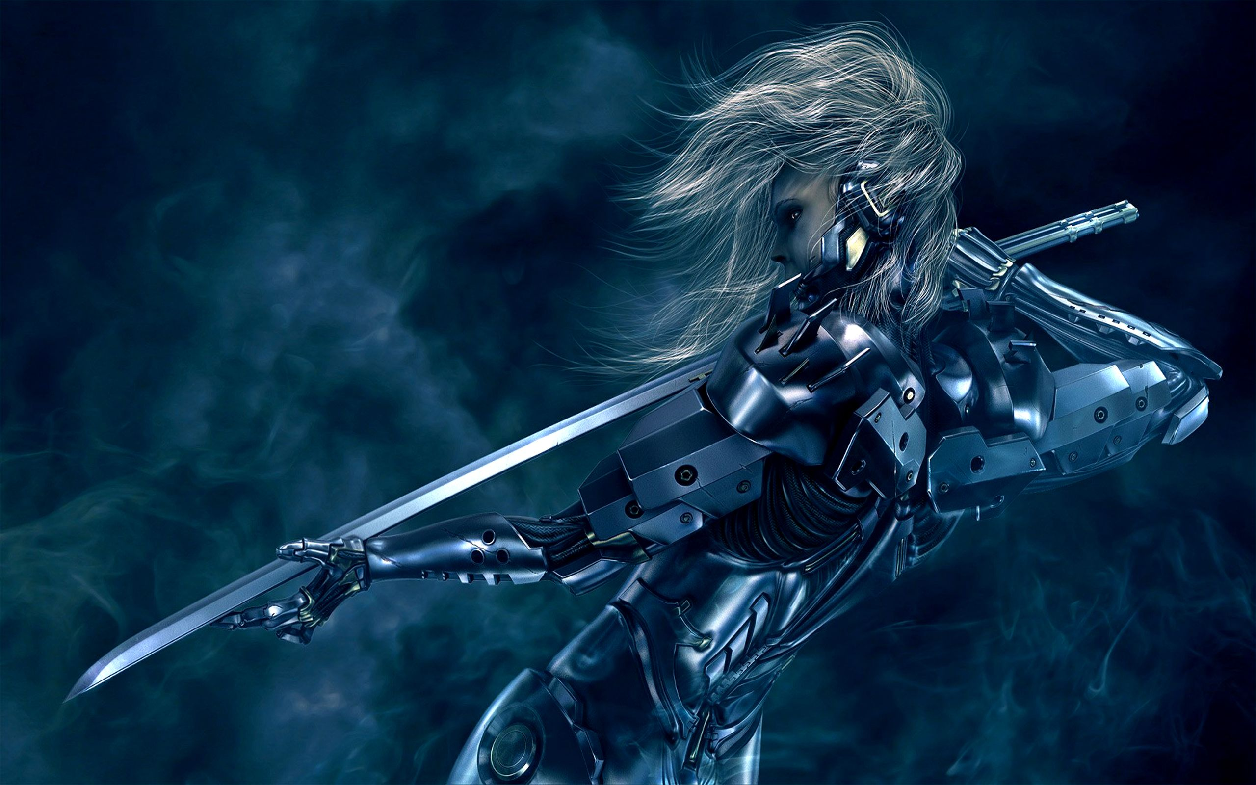 Cyborg Samurai Wallpaper Background 2560 X 1600 Id 109172 Wallpaper Abyss Metal Gear Rising Metal Gear Cool Backgrounds Hd