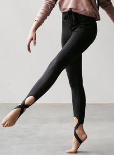 8db027ae82a333 Stretchy Skinny Sports Leggings with Cross Foot Straps - OASAP.com ...